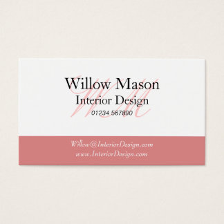 Pink & White Professional Business Card