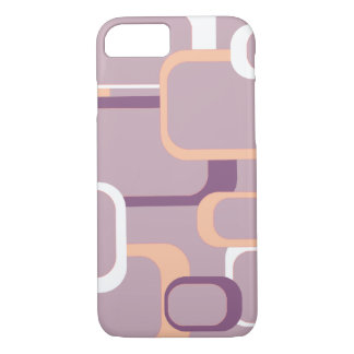 Pink White Purple Retro Squares iPhone 7 Case