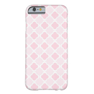 Pink & White Quatrefoil Design Barely There iPhone 6 Case
