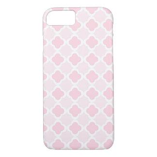 Pink & White Quatrefoil Design iPhone 8/7 Case
