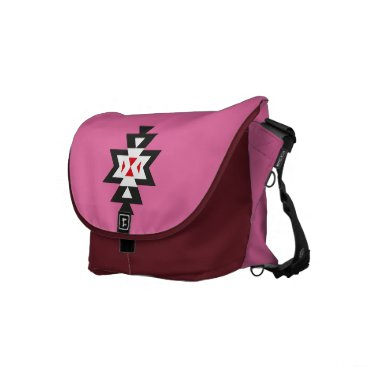 Aztec Themed Pink White Red Aztec Navajo Pattern Courier Bag