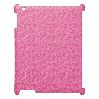 Pink White Rose Flourish Pattern iPad Cases