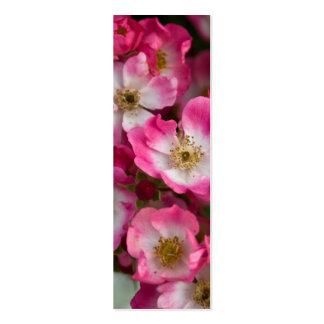 Pink White Roses Bookmark Business Card Template