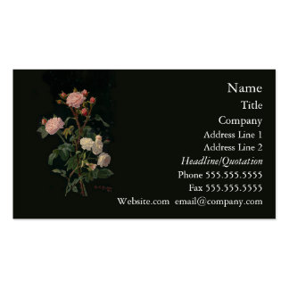 Pink & White Roses Business Cards