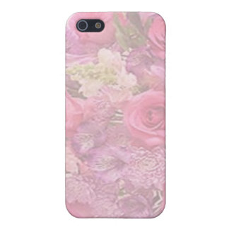 PINK & WHITE ROSES by SHARON SHARPE Cover For iPhone SE/5/5s