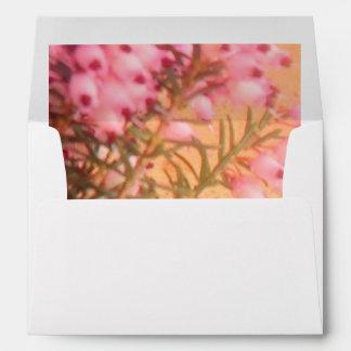 Pink/White Sprig of Heather Envelope