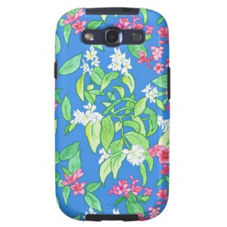 Pink, White Spring Blossom Samsung Galaxy S3 Case