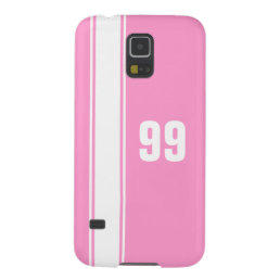 Pink & White Stripe Jersey Numbered Samsung Case
