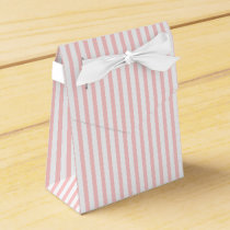 Pink, white striped pattern custom wedding favor box
