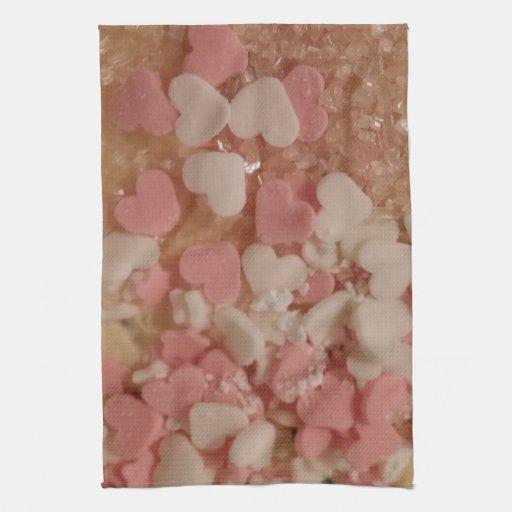 Pink White Valentine Hearts, Cake Decoration, Love Towel ...