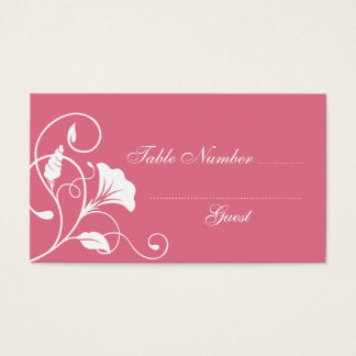 Pink & White Wedding Table Assignment Place Cards