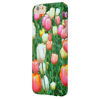 PINK, WHITE,YELLOW AND ORANGE TULIPS BARELY THERE iPhone 6 PLUS CASE