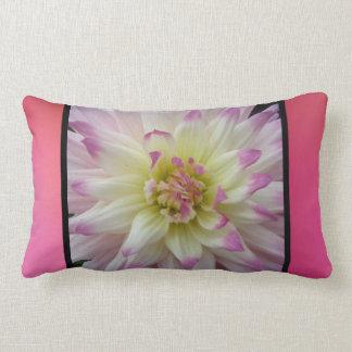 Pink White Yellow Flower Throw Pillow