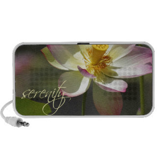 Pink White Yellow Lotus Blossom Serenity iPod Speakers