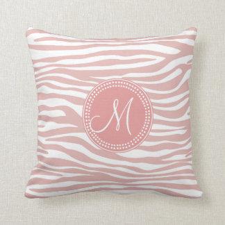 Pink & White Zebra Pattern Pillow