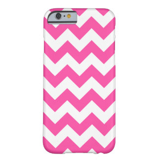 Pink White Zigzag Chevron Pattern Girly Barely There iPhone 6 Case