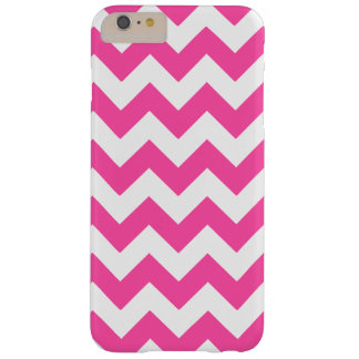 Pink White Zigzag Chevron Pattern Girly Barely There iPhone 6 Plus Case