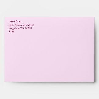Pink wild flowers envelope