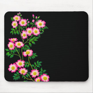 Pink Wild Roses Mousepad