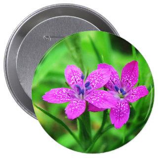 Pink Wildflower Button