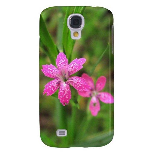 Pink Wildflower ~ case Galaxy S4 Case