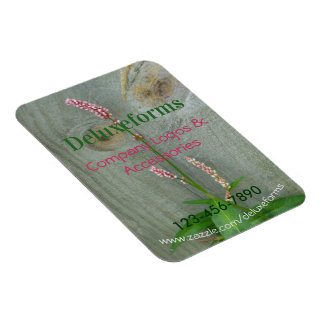 Pink Wildflower Wood Fence Magnet