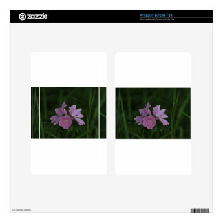 Pink Wildflowers amongst the grass Kindle Fire Decals