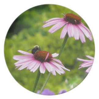 Pink Wildflowers Party Plates