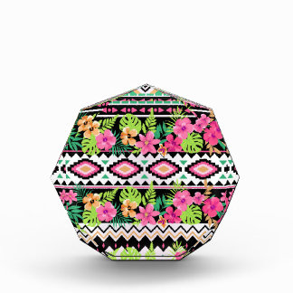 Pink Wildflowers Tribal Pattern Award