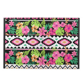 Pink Wildflowers Tribal Pattern iPad Air Case