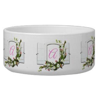Pink Window Monogram Bowl