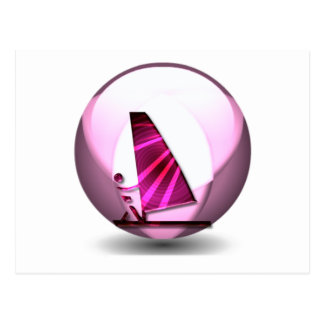 Pink Windsurf Designs Postcard