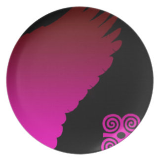 pink winged plate
