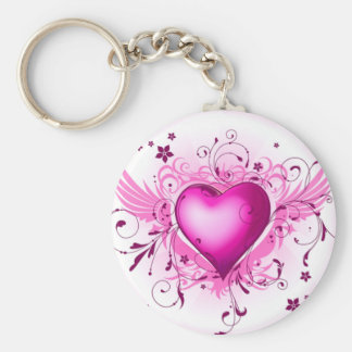 Pink Wings Keychain