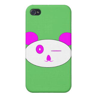 Pink Winking Panda Iphone Case iPhone 4 Cases