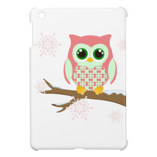 Pink winter owl case for the iPad mini
