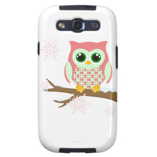 Pink winter owl galaxy SIII cover