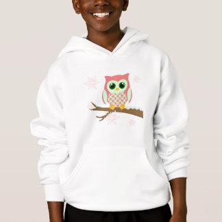 Pink winter owl hoodie