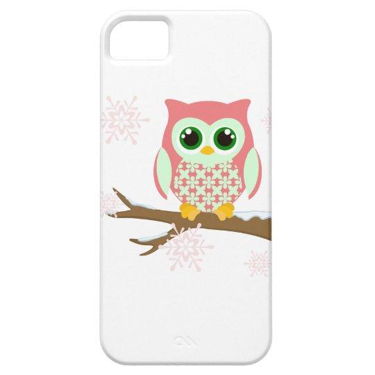 Pink winter owl iPhone SE/5/5s case