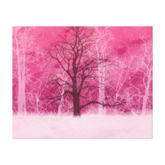 Pink Winter Wonderland Canvas Print