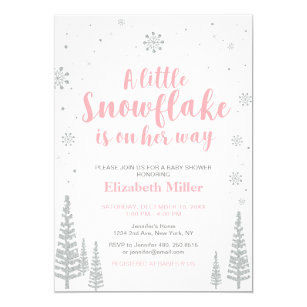 Baby sprinkle invitations zazzle pink winter wonderland girl baby showersprinkle invitation filmwisefo