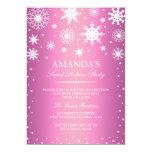 Pink Winter Wonderland Sweet 16 Invitation