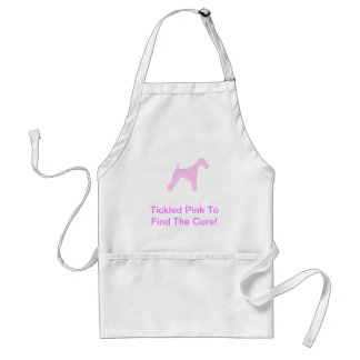 Pink Wire Haired Fox Terrier Aprons