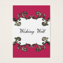 pink wishing well cards
