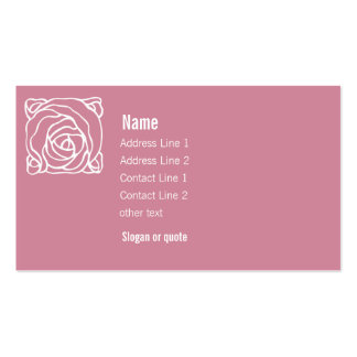 Pink with Art Nouveau Rose Business Card