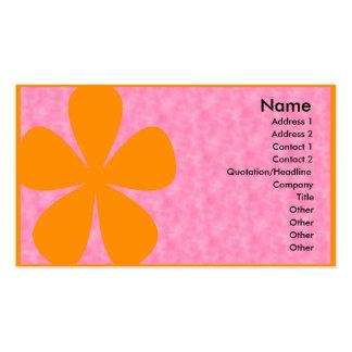 Pink with Big Orange Flower Business Cards