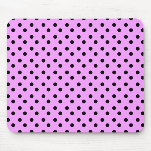 Pink with black Dots Mousepad