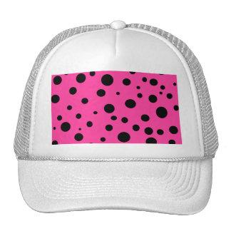 Pink with Black Polka Dots Fashion Fun Trucker Hat