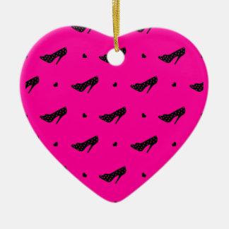 Pink with Black Stiletto Heels Ornament
