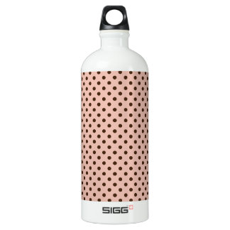 Pink with Brown Dots Water Bottle